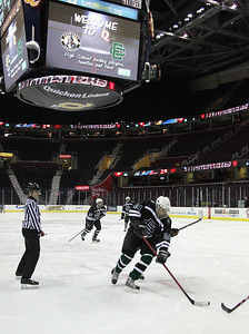 EC's Jeremy Ng moves into position to attempt to score against Normady at the Q.  photo by Ray Riedel