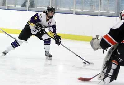 Avon's Eric Novakaovic moves on goal before scoring against Normandy High School in the second period Sunday afternoon at Serpentini Arena in Lakewood. ANNA NORRIS/CHRONICLE
