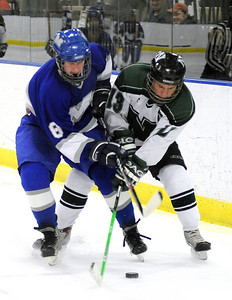 Midview 8 Chris Nagle and Nordonia Dave Bina tangle up Feb.8.  Steve Manheim