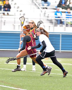 Macey Buchanan moves toward the goal Saturday against Bay. JESSE GRABOWSKI / CHRONICLE