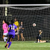 Amherst's Lexy Alston (6) gets the ball past Avon goalkeeper Maggie Beatty with 7.4 seconds left in the first half to tie the game at 1. There were no goals scored in the second half. JOE COLON / CHRONICLE