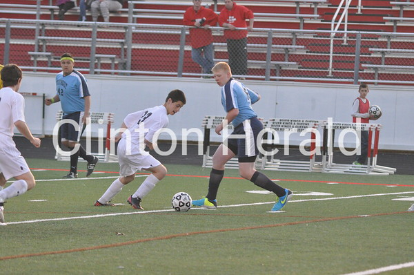 Northeast at Clinton boys soccer (4-11-14)
