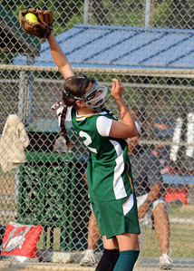 Medina pitcher Becca Kerr makes a catch July 8.  Steve Manheim