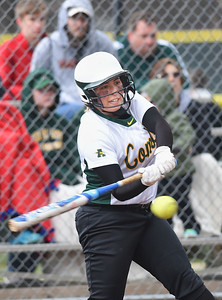 KRISTIN BAUER | CHRONICLE Amherst Steel High School's Madison Spataro (2) bats during a game against Midview High School on Tuesday aftenoon, April 4.