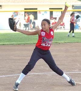 Elyria relief pitcher #9 Haley Schultz