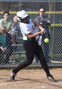KRISTIN BAUER | CHRONICLE Amherst High School's Lauren Kachure bats against Midview High School on Wednesday evening April 20.