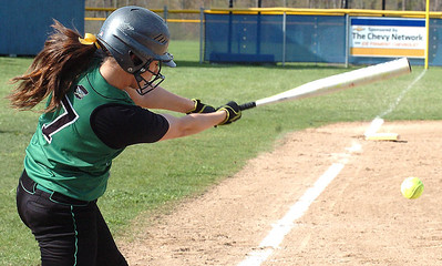 Columbia's #7 Nicolette Kunath gets a hit.
