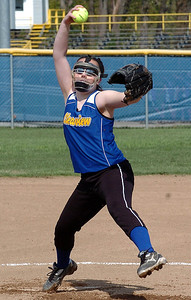 Clearview's starting pitcher #29 Sarah Kaya.