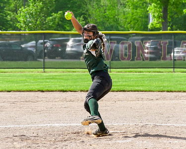 Elyria Catholic pitcher Ashley Cascio delivers against Columbia on Thursday, May 18. JOE COLON / CHRONICLE