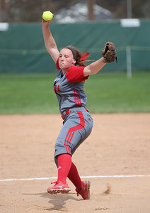 Elyria's Elizabeth Ellis pitches in the Wendy's Tournament at Brookside Park in Ashland.  Photo by Ray Riedel