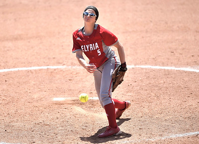 Elyria pitcher Isabella St. Peter delivers in the seventh inning. DAVID RICHARD / CHRONICLE