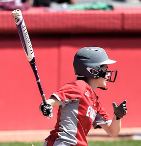 Madison Cruzado of Elyria hits an RBI double in the fourth inning. DAVID RICHARD / CHRONICLE