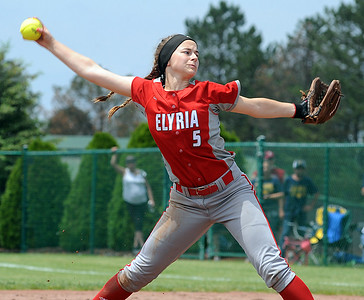 Isabella St. Peter pitches against Whitmer on May 27. STEVE MANHEIM / CHRONICLE