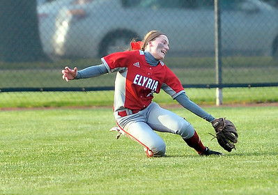 Macy Taylor makes a sliding catch in the outfield in the seventh inning against Westlake. DAVID RICHARD / CHRONICLE
