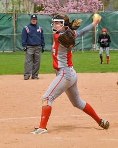 Elyria's April Howser pitches in relief in the Wendy's Classic on Saturday. JESSE GRABOWSKI / CHRONICLE