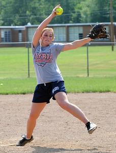 Alyssa Barker, Elyria softball at practice May 30.  Steve Manheim