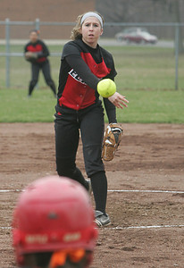 Elyria's opening pitcher Kristen Boros  photo by Chuck Humel