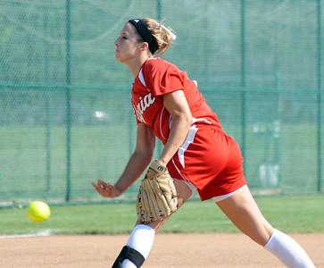 Elyria pitcher Kristen Boros pitches in regional softball May 26.  Steve Manheim