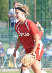 Elyria pitcher Kristen Boros finishes with the win over Midview in regional softball at Clyde May 26.  Steve Manheim