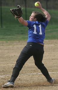 Midview pitcher #11 Sydney Mencke.  photo by Chuck Humel