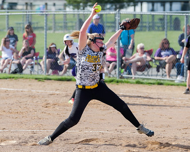 Bailey Scheck pitches for Black River against Keystone on Monday. JOE COLON/CHRONICLE