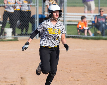 Black River's Elizabeth Rogers safely reaches first base after singling to left field in a game Monday, April 18. JOE COLON/CHRONICLE