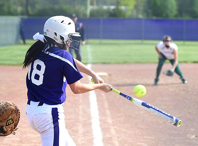 KRISTIN BAUER | CHRONICLE   Keystone High School's Kodi Akers (18) bats against Cloverleaf on Wednesday afternoon, May 18.