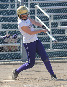 Vermilion's Jessica Tucker hits a double in first inning.  Steve Manheim