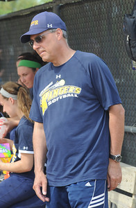 Norm Frindt, North Ridgeville softball coach on May 9.  Steve Manheim