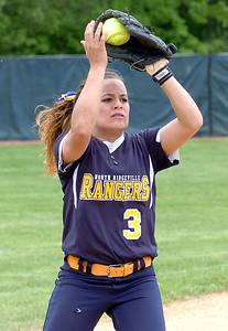 North Ridgeville's #3 M. Caraballo catches a popup for an out.