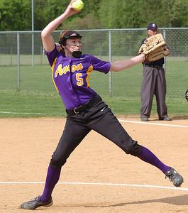 Avon's starting pitcher #5 Rachael Poling.