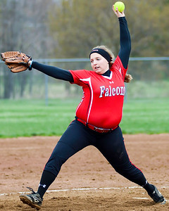 Clair Vilagi pitches for Firelands against Keystone on Monday. JOE COLON/CHRONICLE