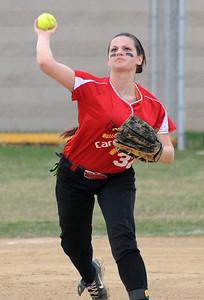 Brookside's shortstop Kirsten Lara makes a throw on Thursday. STEVE MANHEIM/CHRONICLE