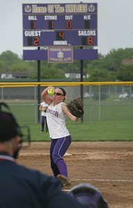 Vermilion Pitcher Jessica Tucker. photo by Chuck Humel