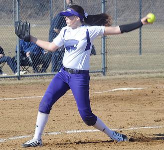 Keystone Lauren Shaw pitches Apr. 1.  Steve Manheim