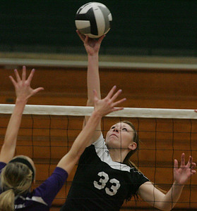 #33 Jeanine Musall of Brookside adds a soft touch to the ball.        photo by Chuck Humel