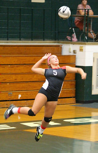Brookside's Lisa Campo serves against Elyria Catholic. CHRISTY LEGEZA/CHRONICLE