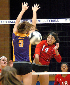 Elyria vs. Avon volleyball.