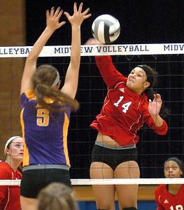 Avon vs. Elyria volleyball.