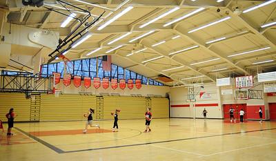 Elyria High gym  with girls team practice Feb. 26.   Steve Manheim