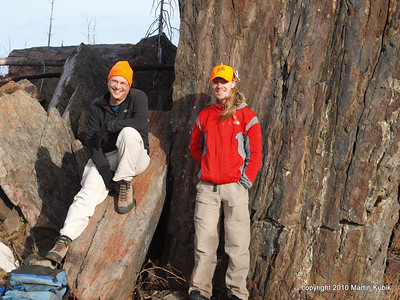 Magnetic Rock may have healing powers, re-energizing these two hikers for a trek back.
