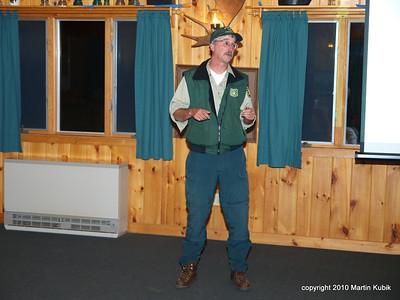 After dinner Tom Kaffine gave a presentation about the Centennial Trail.  We really enjoyed learning how the Centennial Trail came about and its rich history.