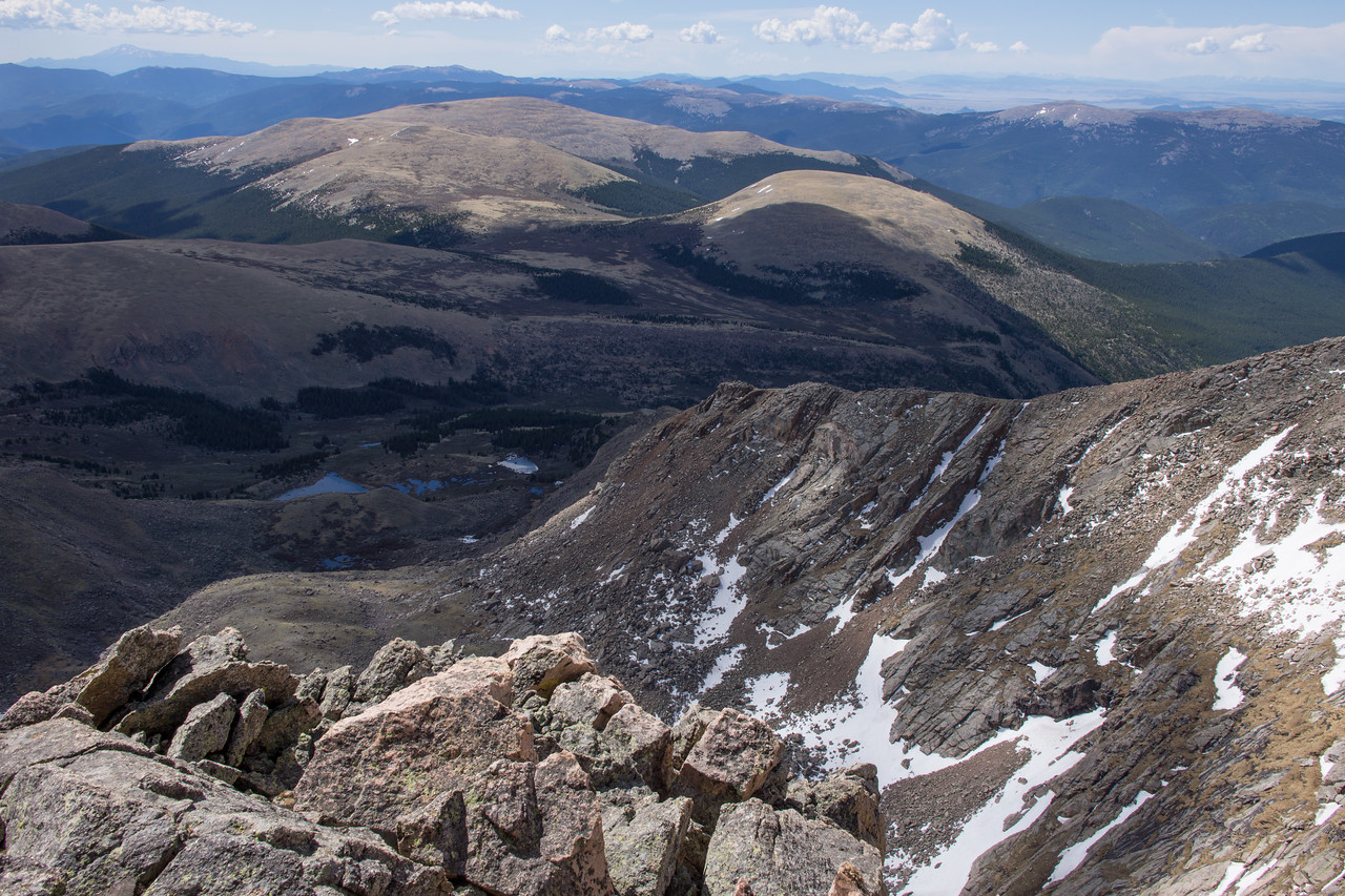 Looking southeast along the summit ridge.