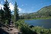 The trail along Grass Lake