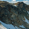 Hike to Glacier 14 pan (upper rock face from Little Whistler)
