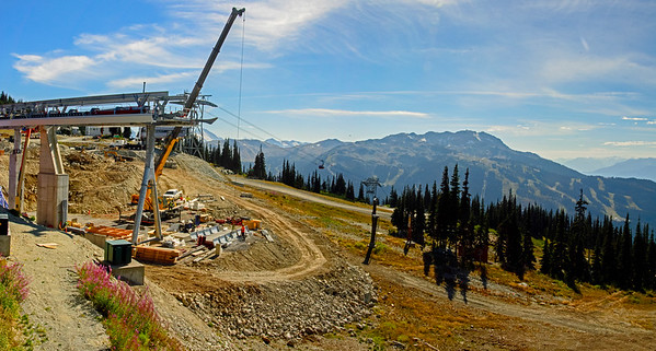 Rendezvous view 01 pan (New Gondola construction)