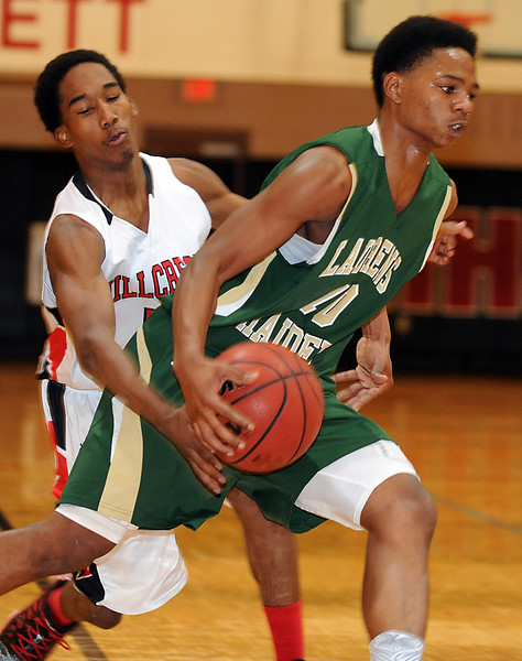 The Hillcrest Rams played host to the Laurens Raiders in a Region 1-AAAA basketball game.<br /> GWINN DAVIS PHOTOS<br /> gwinndavisphotos.com (website)<br /> (864) 915-0411 (cell)<br /> gwinndavis@gmail.com  (e-mail) <br /> Gwinn Davis (FaceBook)