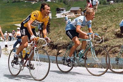 Giro 83 - Claudio Bortolotto and Alf Segersall (SWE, Bianchi)