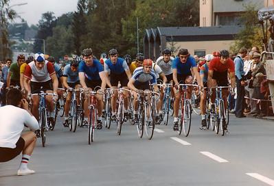 26.9.1981: Start zum P&S Preis in Katzwang. V.r. nach l.: Christian Goldschagg, Uli Schillinger, Peter Lenz, Karl Körner, Dieter Flögel und Markus Zoll im grün des RSC Fürth.