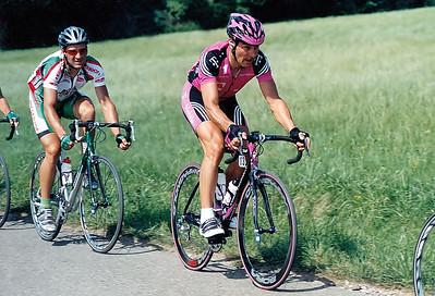 Juni 2003 DM Spalt: An einem schwülwarmen Tag fährt Erik Zabel mit der Startnummer 13 und auf Bora Campagnolo Felgen zum Titel. Auf dem superschweren Bergkurs kam er als Solist im Ziel an.